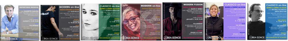 Tutte le lezioni online prenotabili dall'APP di Area Dance